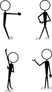 Stick Figure Sports Players