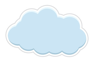 Sticker Cloud Vector