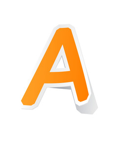 Sticker Letters. Vector Alphabet Set.