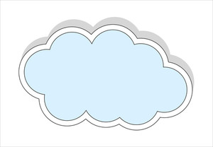 Sticker Style Cloud