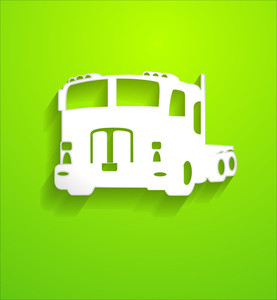Sticker Style Truck Vector Shape