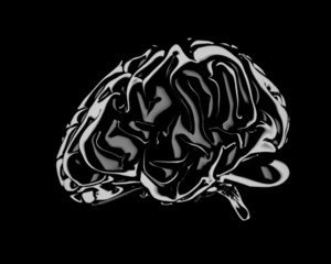 Still Life Render Of A Human Brain