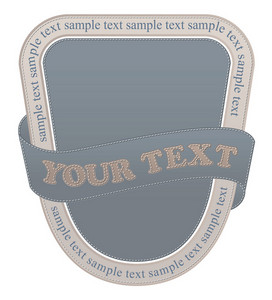 Stitch Label Vector Illustration