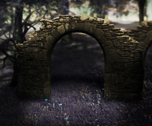 Stone Arch Dark Background