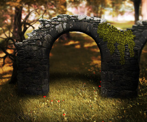 Stone Arch Premade Background