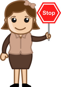 Stop - Cartoon Bussiness Vector Illustrations