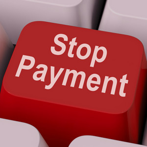Stop Payment Key Shows Halt Online Transaction