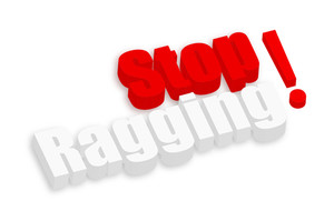 Stop Ragging 3d Text