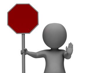 Stop Sign Showing Danger Warning