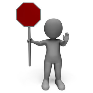 Stop Sign Shows Danger Warning