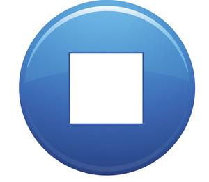 Stop Square Blue Circle