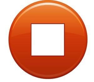Stop Square Orange Circle