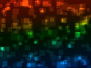 Bokeh Neon Squares Background