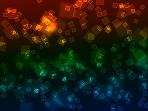 Bokeh Neon Squares Background