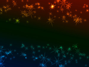 Bokeh Neon Stars Background