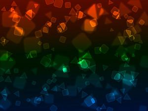 Bokeh Neon Shapes Background