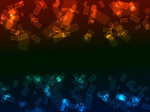 Bokeh Neon Rectangles Background