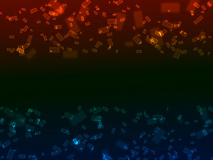 Bokeh Neon Rectangles Background