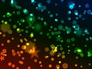 Bokeh Neon Starbursts Background