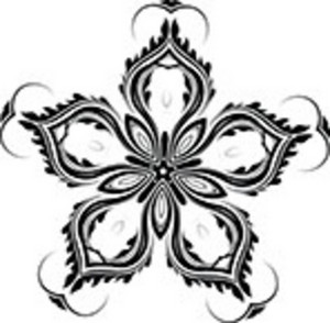 Black And White Elegant Floral Element