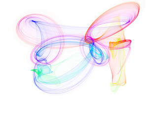 Colorful Fractal Swirl