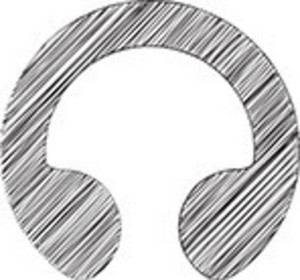Scribbled Headphone Icon On White Background
