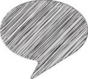 Scribbled Speech Bubble On White Background