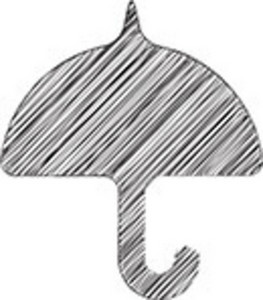 Scribbled Umbrella On White Background