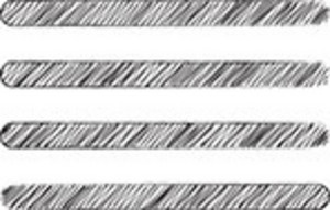 Scribbled Horizontal Lines On White Background