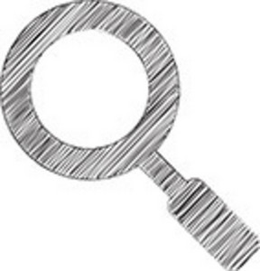 Scribbled Magnifying Glass On White Background