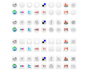 Collection Of Social Media Icons On White Background
