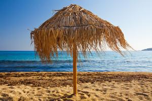 A beach umbrella on Mykonos