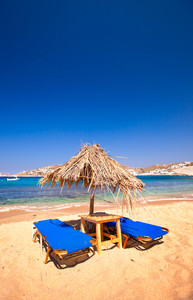 Beach in Mykonos, Greece