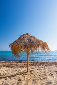 Beach scene from Mykonos, Greece