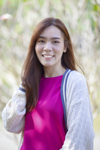 beautiful asian younger woman toothy smiling face with happiness emotion