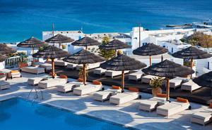 Beautiful resort in the Greek Islands