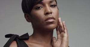 beauty black woman portrait closeup