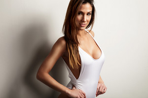 beauty spanish woman in with long straight hair
