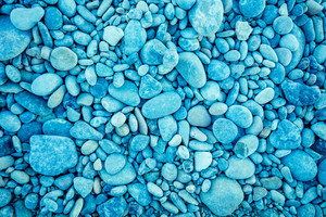 Blue vintage pebbles background