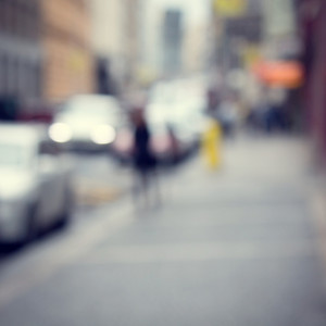Blur city cars abstract background