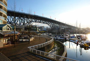Burrard Bridge in Vancouver, BC