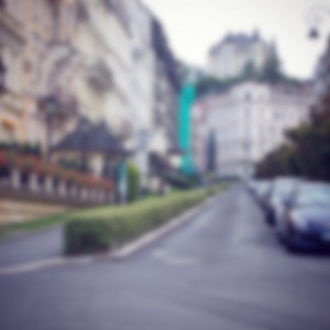 City blur background. Abstract