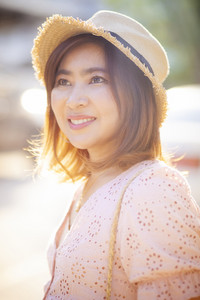 close up face of beautiful asian woman toothy smiling face with happiness emotion
