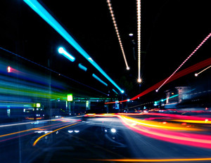 Coloured Abstract Street Lights