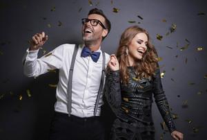 Couple dancing in studio shot