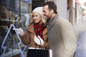 Couple looking at shopping window