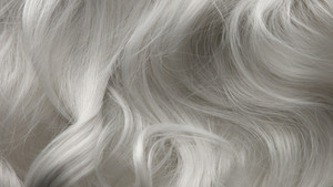Curly large white grey eldery hair texture