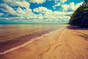 Deserted wild beach