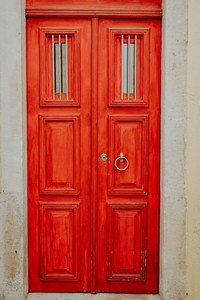 Detail of portuguese architecture in Lisbon: Old tradition colorful house door in Lissabon, Lisboa Portugal