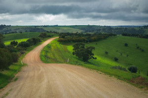 Dirt road in the Adelaide Hills